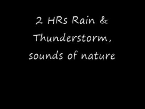 2 hr Cuban Thunder Rain, ASMR  Sounds of nature, street noise