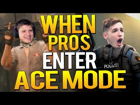 CS:GO - WHEN PROS ENTER ACE MODE!(FAST ACES, 1v5 CLUTCH & MORE)
