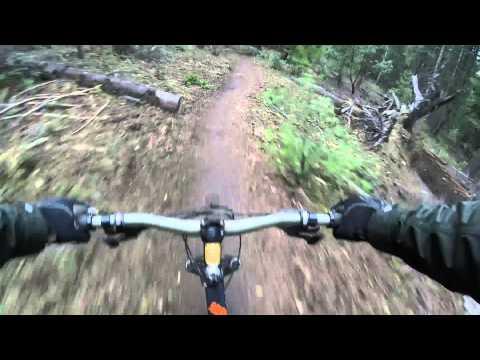 Downhill Mountain Biking Mount Ashland, Oregon.