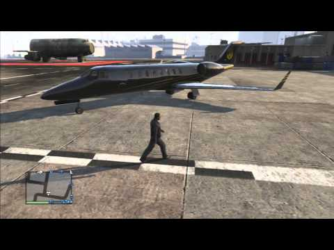 Grand Theft Auto 5 : GTA V Online Luxor Private Jet