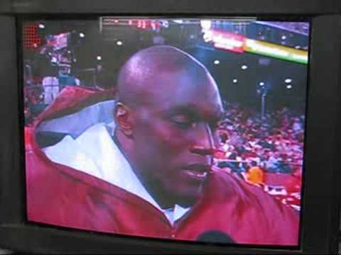 Takeo Spikes hitting on CBS Reporter Kim Coyle during game