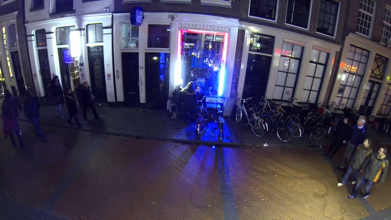 Amsterdam city centre time lapse - Warmoesstraat Hillstreet Blues Cafe -  YouTube