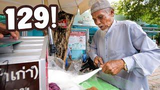 He's 129!! World's Oldest Street Food Vendor!?   Pattani, Thailand