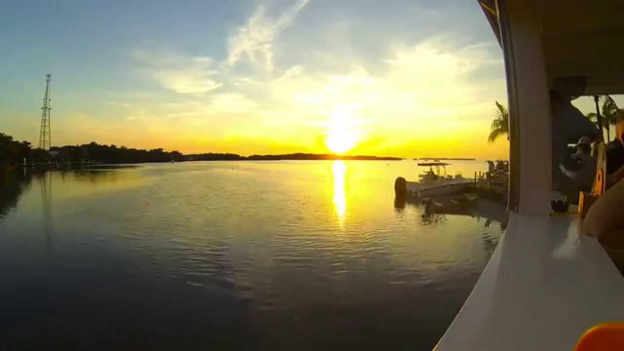Sunset From Lorelei Cabana Bar and Restaurant. MM 82 Bayside. Islamorada. FL - YouTube