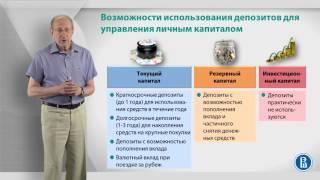 Уроки финансовой грамотности | Лекция 5: Депозиты при управлении личным капиталом