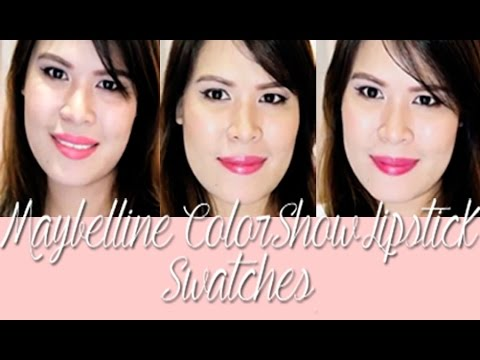 a86b9bb3a Maybelline Color Show Lipsticks Swatches and Mini Review