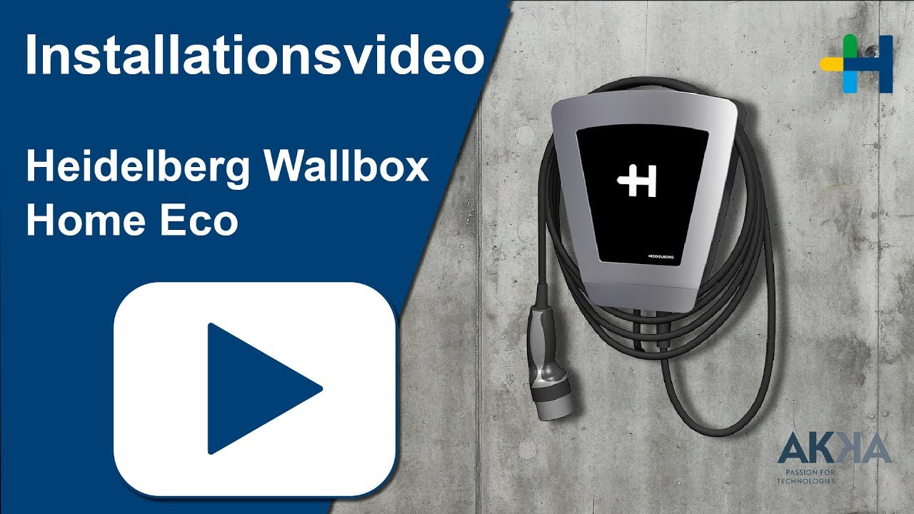 heidelberg wallbox home eco installationsvideo youtube. Black Bedroom Furniture Sets. Home Design Ideas