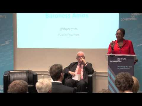 Working with countries faced with humanitarian disasters: A discussion with Valerie Amos