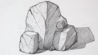 How to Draw Rocks - Basic Shapes