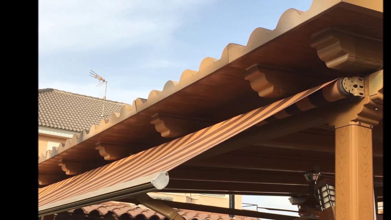 Pergola a medida pergola de aluminio pergola con techo for Panel sandwich aluminio
