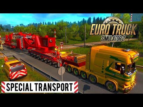 MEGA Transports | 260Ton | Euro truck simulator 2 | Scania truck with Heavy cargo