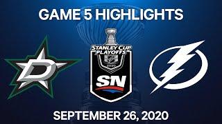 NHL Highlights   Stanley Cup Final, Game 5: Stars vs. Lightning, Sep. 26, 2020