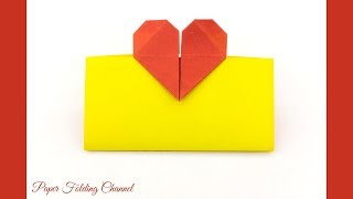 Origami Card with a Heart