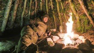 Winter Camp Weekend - Natขral Shelter Camping - Episode 3