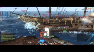 IIPacifistsII Archeage Epic Naval PVP (1 Galleon vs many & a Black Pearl) guild Pacifists