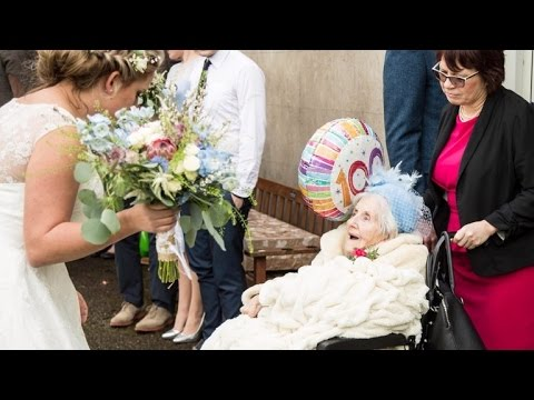 Grandmother Is Bridesmaid At Granddaughter's Wedding On Her 100th Birthday