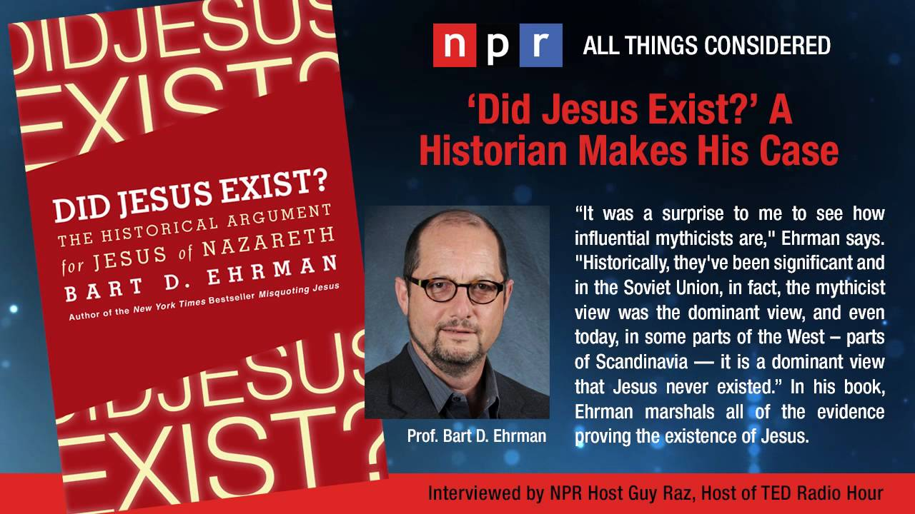 Did Jesus Exist? Interview by Guy Raz - YouTube