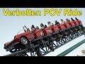 Verbolten Roller Coaster Front Row POV Ride at Busch Gardens Williamsburg @60fps, 1080p