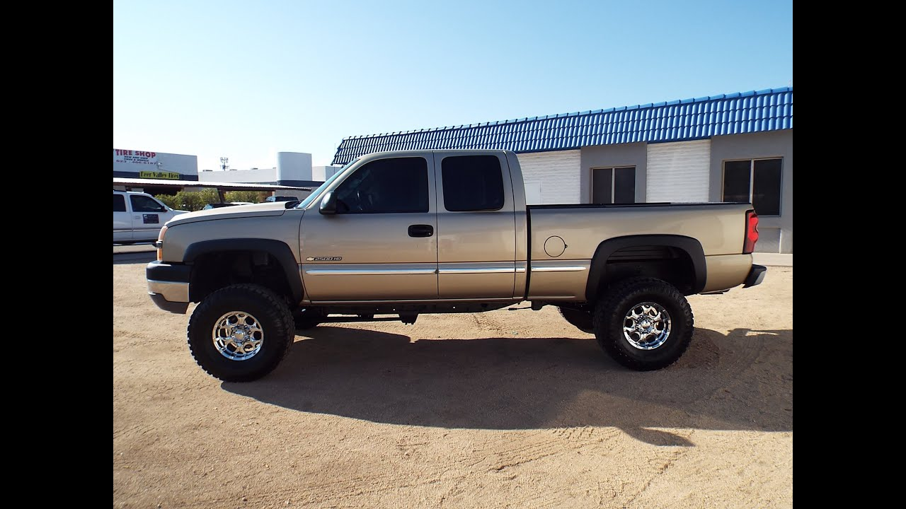 2005 chevrolet silverado lifted wide tires pr1406 youtube. Black Bedroom Furniture Sets. Home Design Ideas