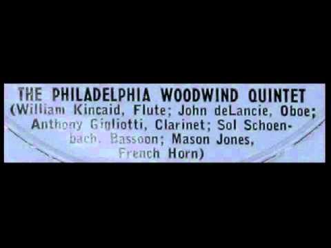 Hindemith / Philadelphia Woodwind Quintet, 1956: Kleine Kammermusik, Op. 24 No. 2 (1922)