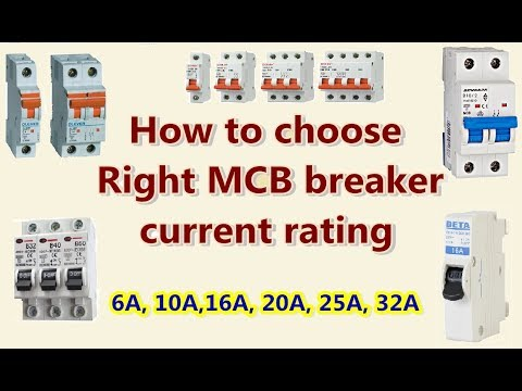 HOW to choose RIght MCB breaker current rating