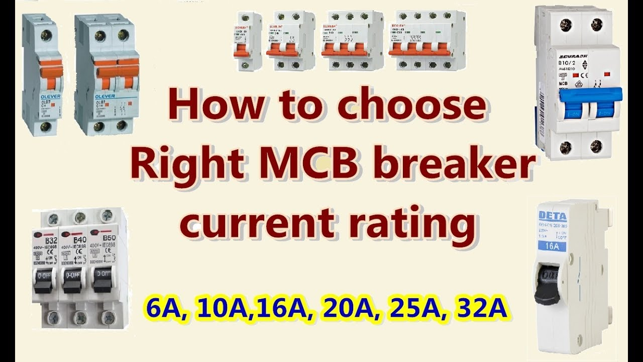 HOW to choose RIght MCB breaker current rating - YouTube