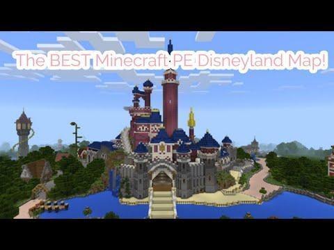 The Best Minecraft Pe Disneyland Paris Map Youtube