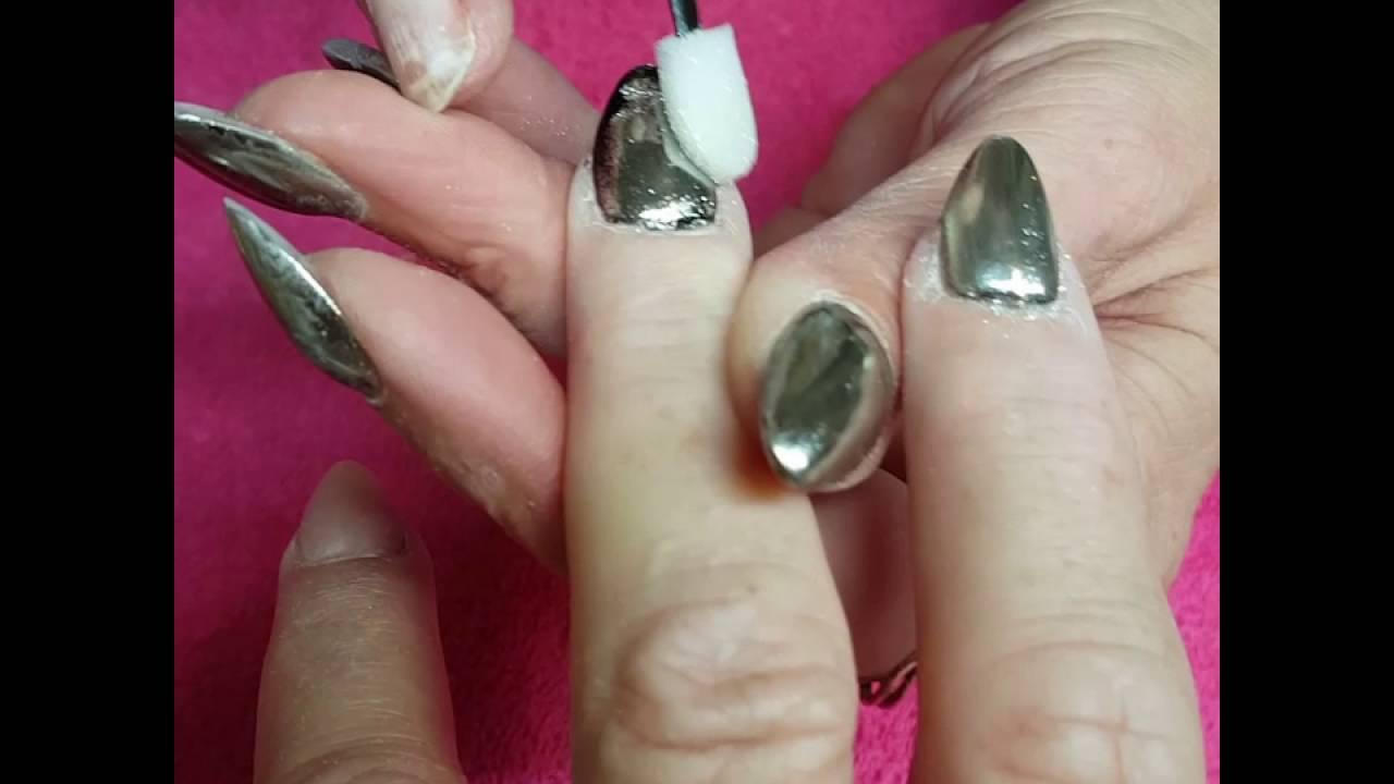 Lets make magic Mirror nails. - YouTube