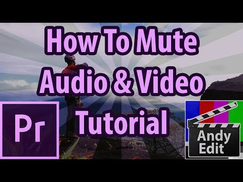 Mute Audio And Video In Adobe Premiere Pro