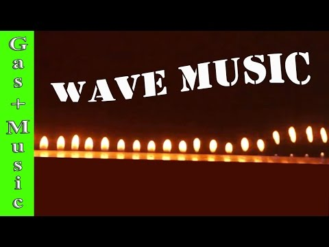 What Happens When You Mix Gas and Music - Make Soundwaves in Fire - [Fire music visualizer]