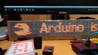 PCMAN on LED DOT Matrix : Ardunio (share code)