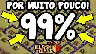 Clash Of Clans | POR MUITO POUCO! ATAQUE 99% NA GUERRA DE CLÃS!