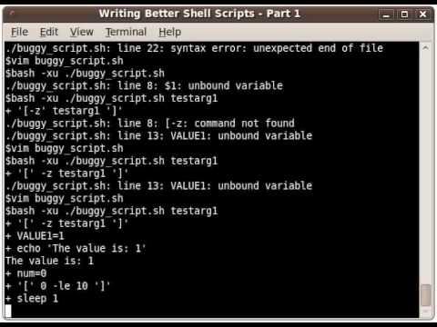 Popular Unix & Shell script videos