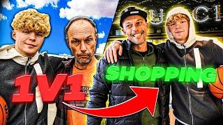 1v1 Basketball VS Homeless Man, Then Taking Him Shopping!