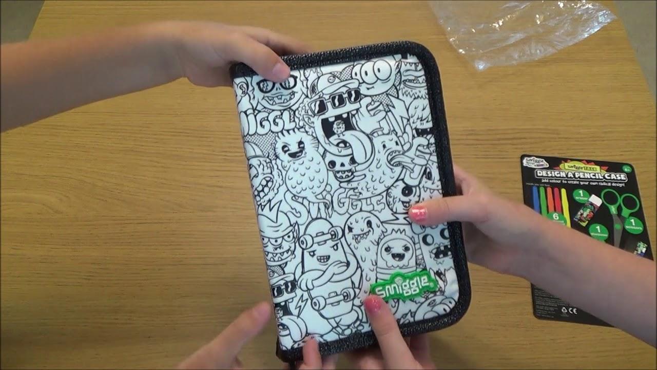 smiggle design a pencil case diy colour in your own pencil case