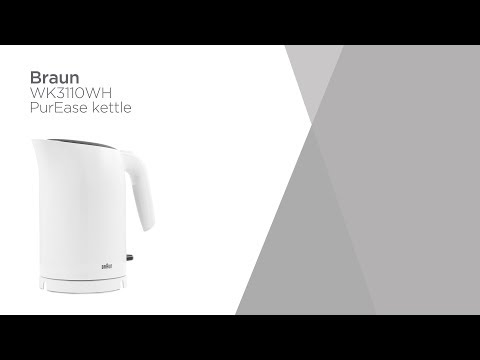 Braun Series 3 PurEase WK3110.WH Jug Kettle - White   Product Overview   Currys PC World
