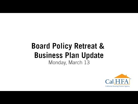Board Policy Retreat & Business Plan Update - 03/13/2017