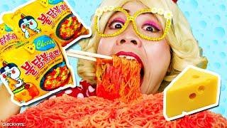 กินจุ กินโชว์ บะหมี่เกาหลีเผ็ดโครต รสชีส