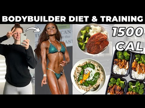 Following My Old Bodybuilding DIET & ROUTINE   Bikini Competitor 1500 Calorie Fat Loss Diet