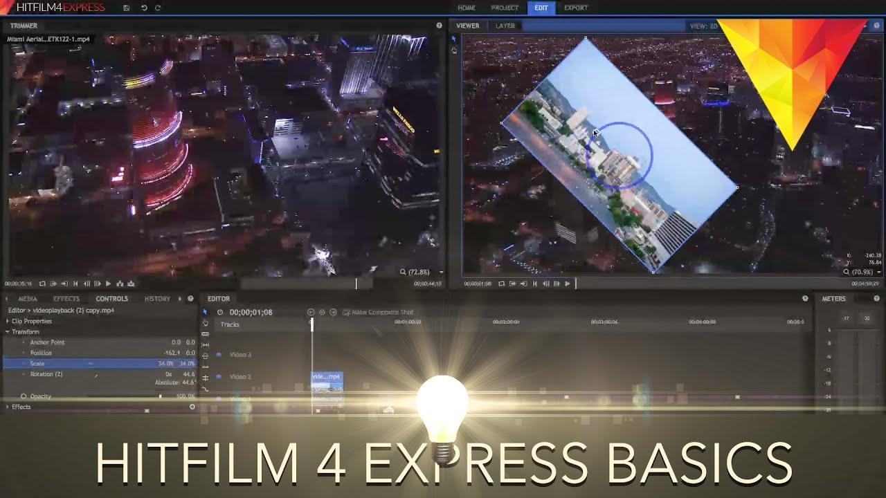 hitfilm 2017 express tutorial