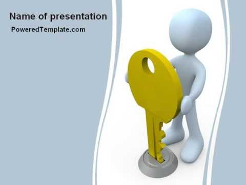 Unlock PowerPoint Template by PoweredTemplate.com - YouTube