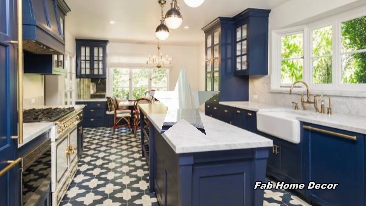 2018 Blue Kitchen Decoration Ideas