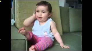 Разговор двухлетней девочки по телефону(Интересные видеоролики с музыкой, приколами, танцами, драками, полетами и спортивными трюками. Будут показа..., 2015-10-27T16:37:58.000Z)