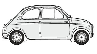 How to Draw a Fiat 500 / Как нарисовать Fiat 500