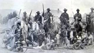 Sarie Marais (in Afrikaans) with images of the Boer War.
