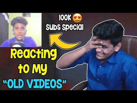 """Reacting To My """"Old Videos"""" (100k Subs Special) - BeastBoyShub React"""