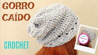 Gorro Caido Tejido A Crochet Para Mujer 9d6e45af087
