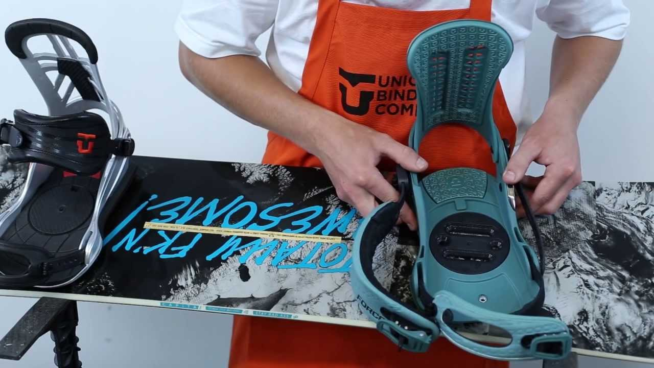 Installing the mount on a snowboard. How to choose the size of mounting for snowboard 89