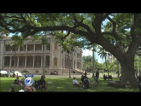 Supporters of sovereignty air grievances at Iolani Palace