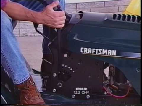 CRAFTSMAN Lawn  Garden Tractor Use and Maintenance Guide -VHS, 1999